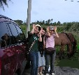 Satoe group horseback riding in southern Guam